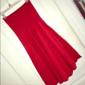 Victoria's Secret Red Strapless Dress